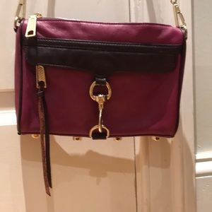"""Rebecca Minkoff purple classic """"Mini M.A.C"""" purse"""